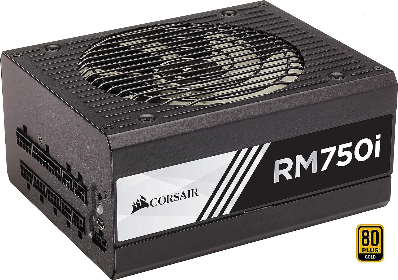 Corsair RM750x Alimentation PC (Modulaire Complet, 80 PLUS Gold, 750 Watt, EU) CP-9020092-EU