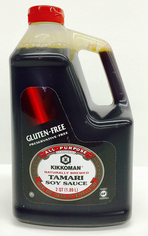 Amazon Com Kikkoman Tamari Soy Sauce Gluten Free 64 Ounce 0 5