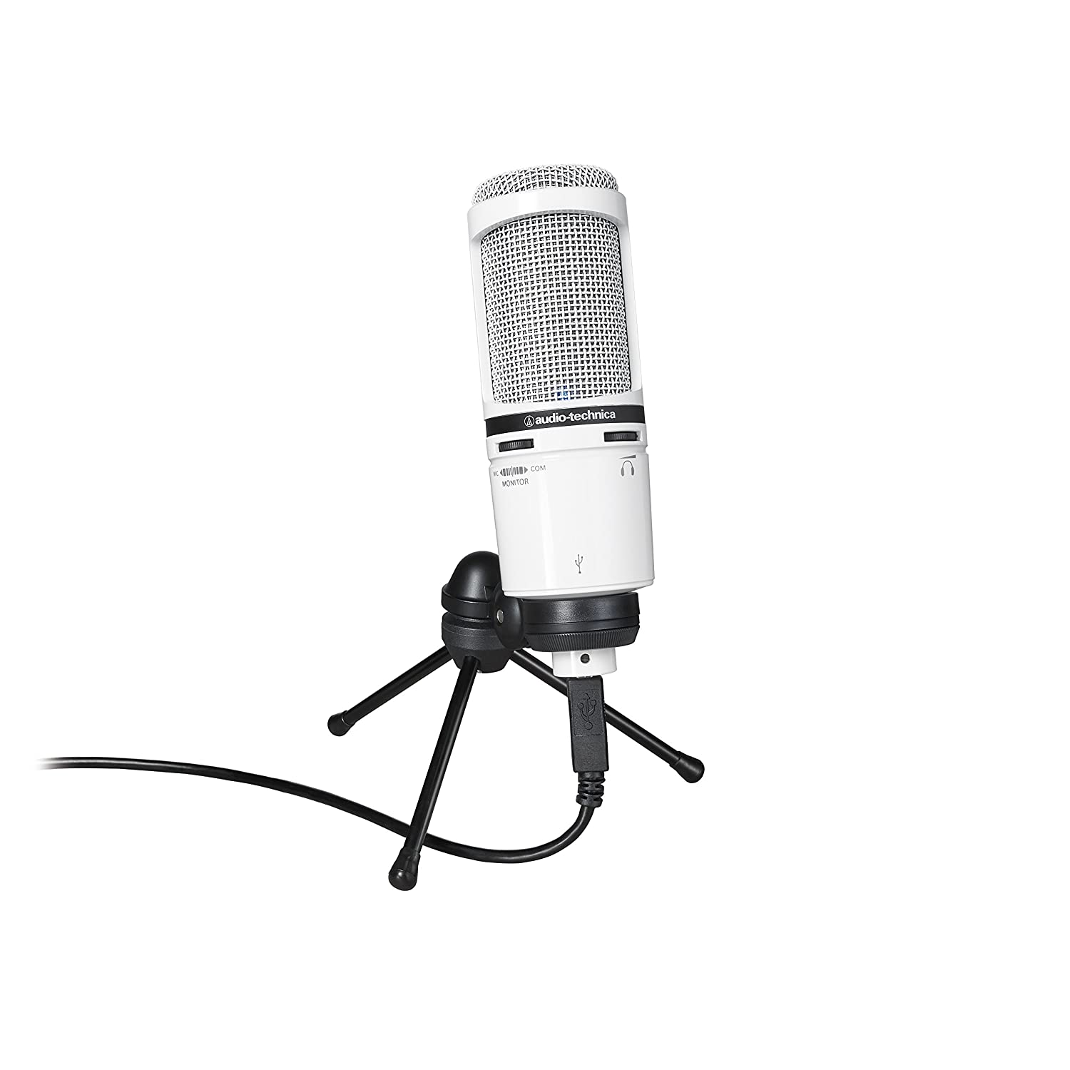 Audio-Technica AT2020USB+ Cardioid Condenser USB Microphone, Black AT2020USB PLUS
