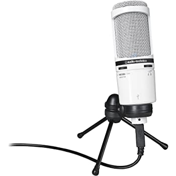 audio technica at2020usb cardioid condenser usb microphone white musical instruments. Black Bedroom Furniture Sets. Home Design Ideas