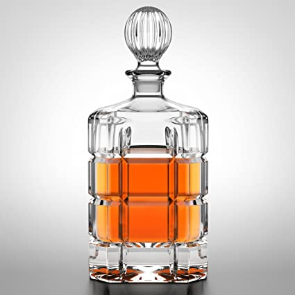 amazon com lead free whiskey decanter in leather gift box by