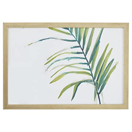 Amazon.com: Rivet Modern Left Facing Palm Frond, Wood-Tone Frame, 15 ...