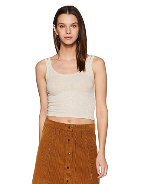 d087e16ee0a72 Forever 21 Women s Ribbed Split Cami Top 93844