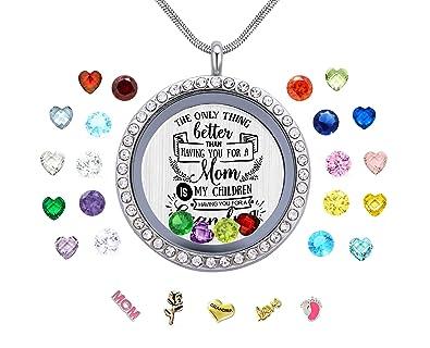 Personalised Floating Memory Locket Keyring ~Birthday Mother/'s day Xmas gift ~~