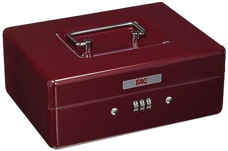 FAC 17045 - Caja de caudales con combinación, número 2, color rojo
