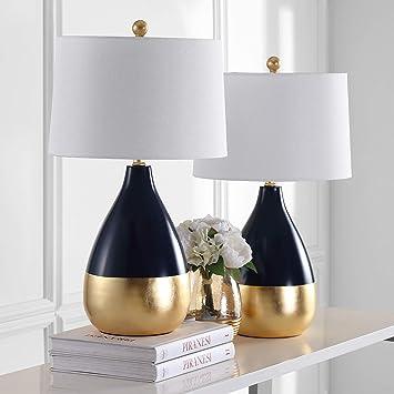 Amazon.com: Lámpara de mesa de vidrio en gris claro – Juego ...