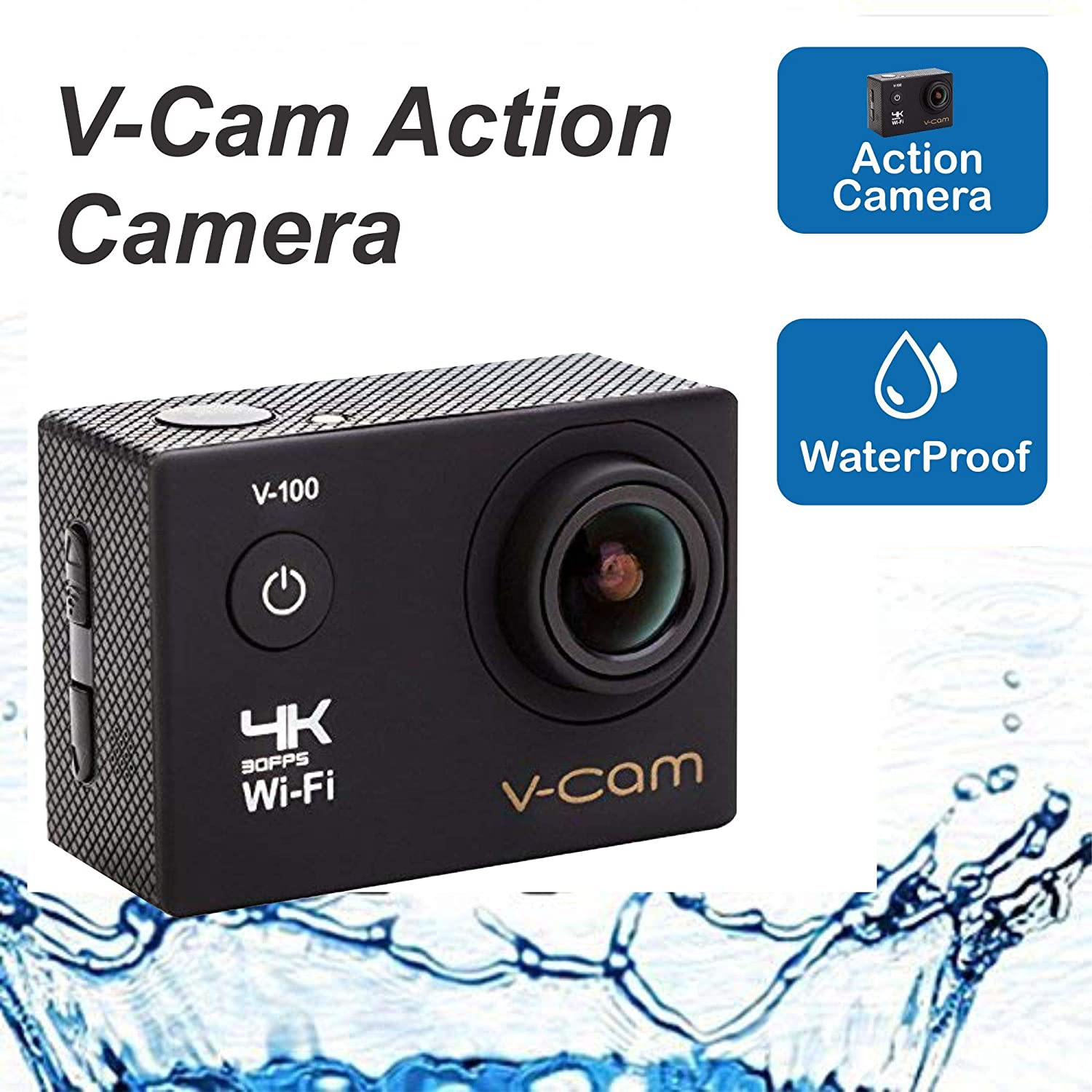 V-CAM Action Camera 4k Wifi 16 MP with High Speed Shooting &
