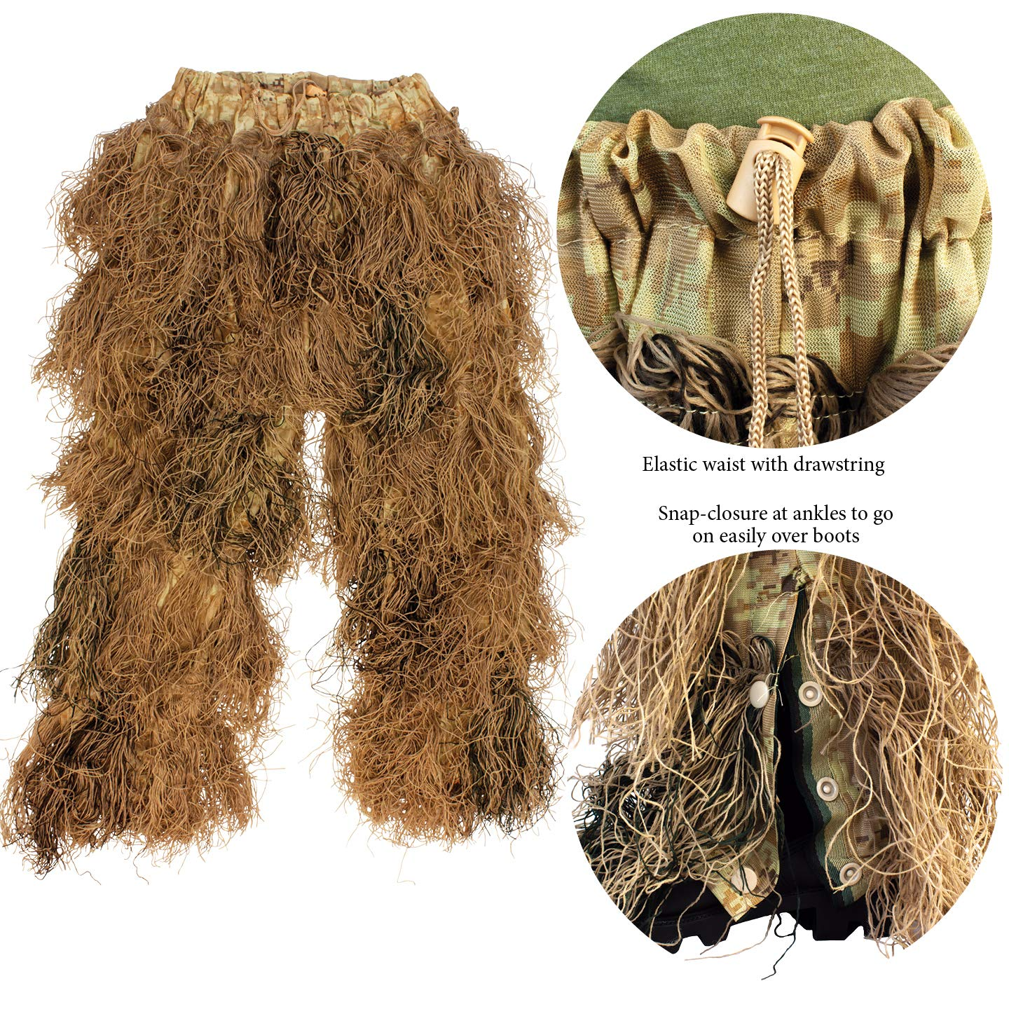 9005381 Red Rock Gear Ghillie Suit 5Piece Desert X-Large/2X-Large by Red Rock Outdoor Gear (Image #6)