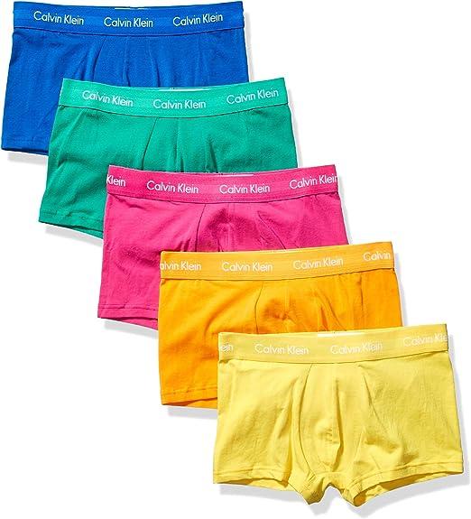 Calvin Klein - Pack de troncos elásticos de algodón para hombre - Azul - Small (71/ 76 cm): Amazon.es: Ropa y accesorios