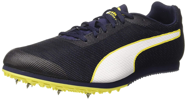 Black (Peacoat-puma Black-blazing Yellow) Puma Men's Evospeed Star 6 Track & Field shoes