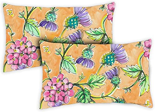 Toland Home Garden 731224 Wild Thistle 12 x 19 Inch Indoor Outdoor, Pillow with Insert 2-Pack