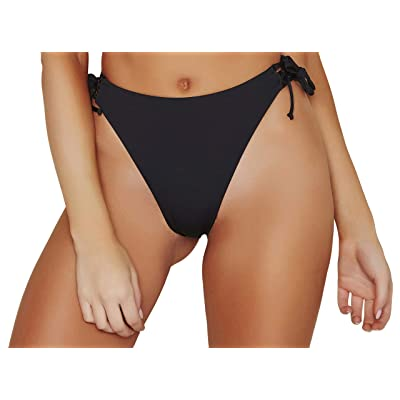 ToBeInStyle Women's Side Tie Cheeky Bottoms: Clothing