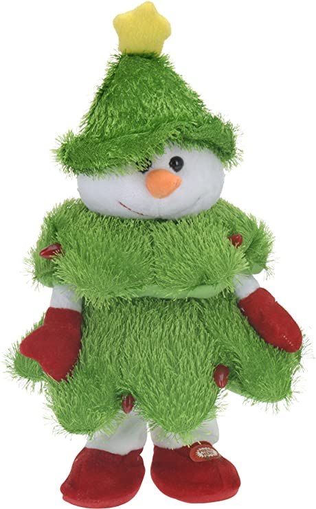 Home Style Dancing Singing Snowman In Christmas Costume 38 Cm