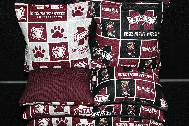 Mississippi State Bulldogs 8 Cornhole Bean Bags Baggo