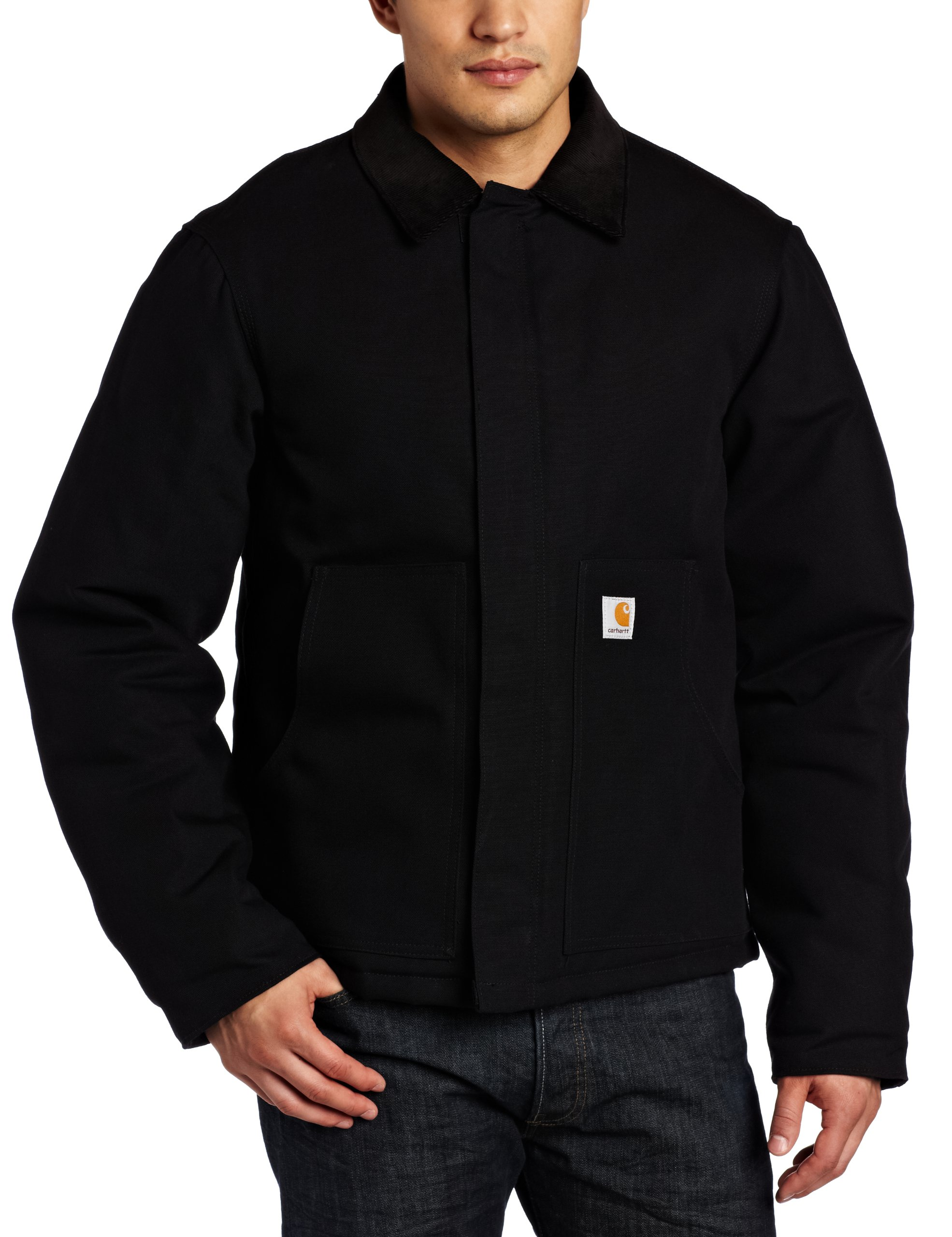 Carhartt Men's Arctic Quilt Lined Duck Traditional Jacket,Black,XX-Large
