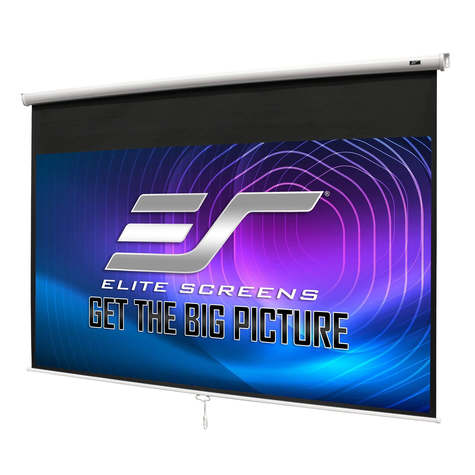 """120/"""" Elite Screens M120XWH2 Manual Series 16:9 Pull-Down Screen"""