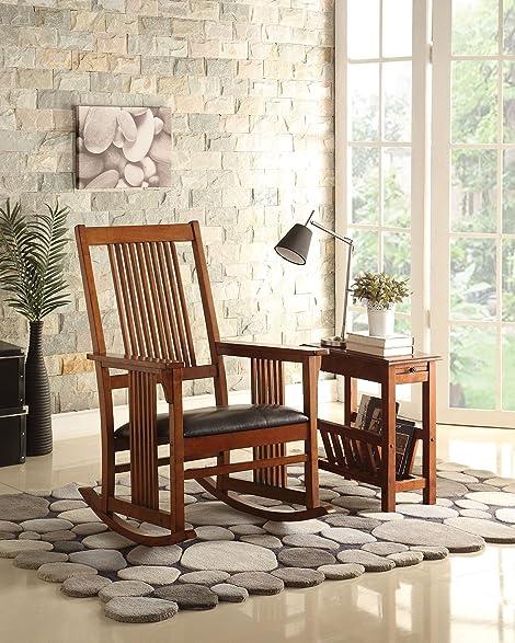 ACME Furniture 59214 Kloris Rocking Chair, Tobacco