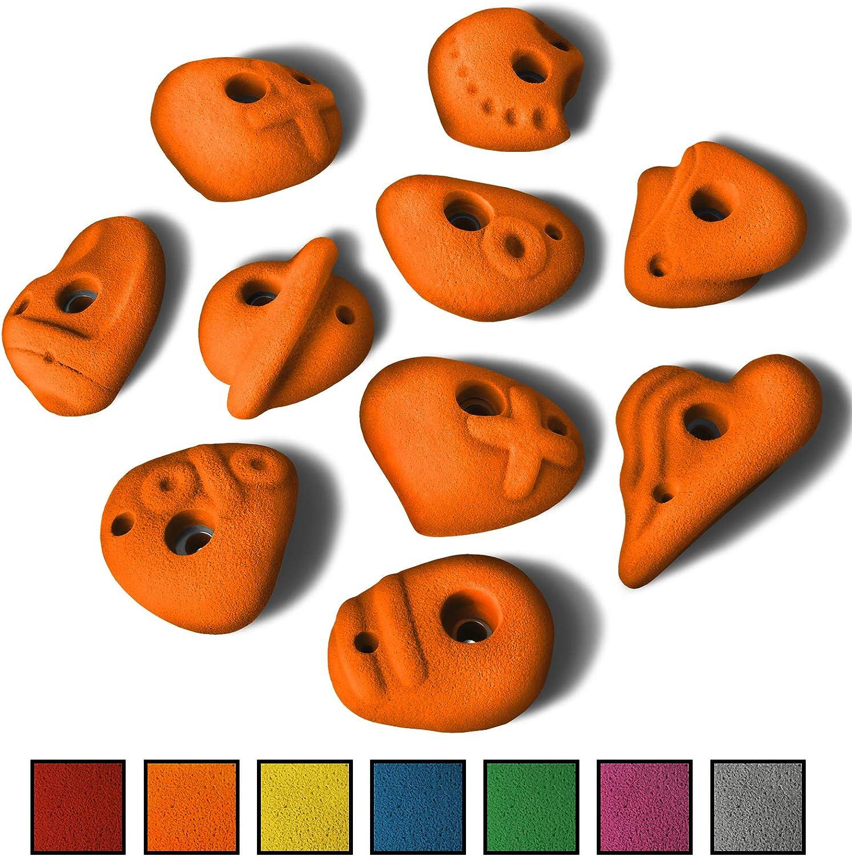 ALPIDEX 10 L Klettergriffe im Set verschieden geformte Henkelgriffe in vielen Farben