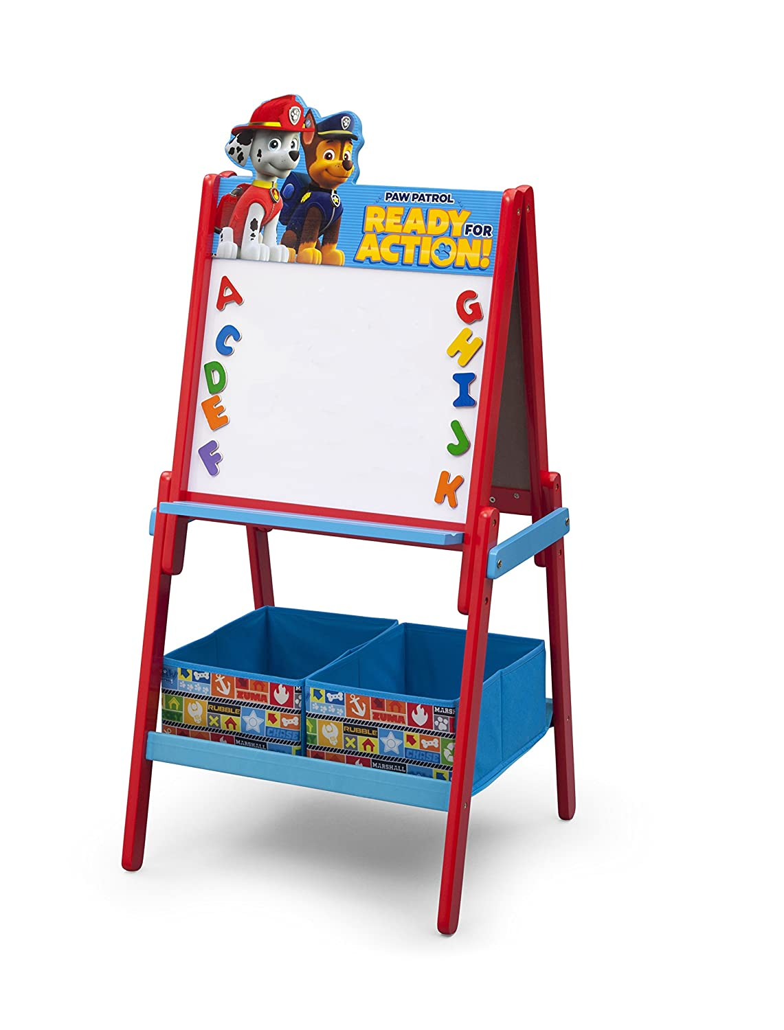 Delta Children Wooden Double Sided Activity Easel with Storage, Nick Jr. PAW Patrol