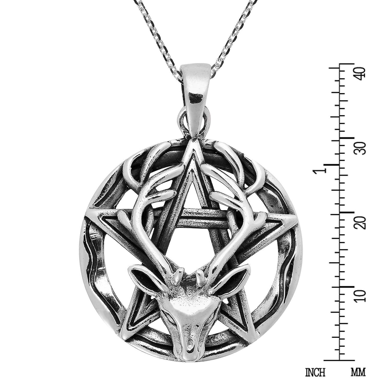 18 mm Brand  New ! Sterling Silver 925 ! Pentagram  Pendant