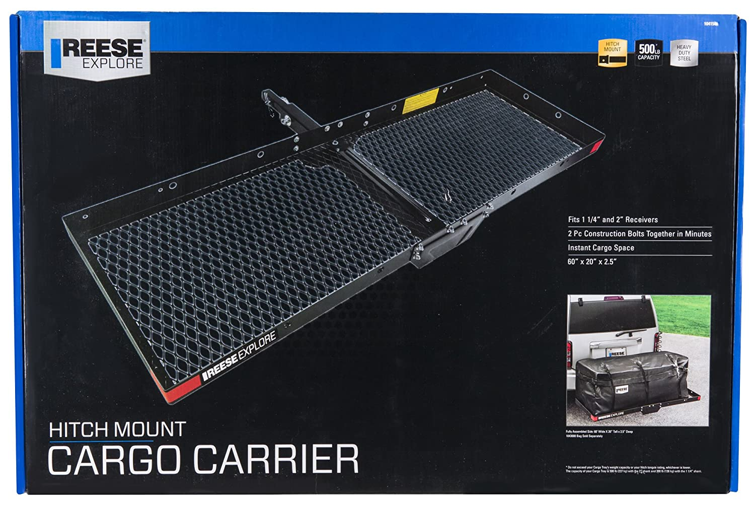 Reese Explore 1041500 Hitch Mount Cargo Carrier