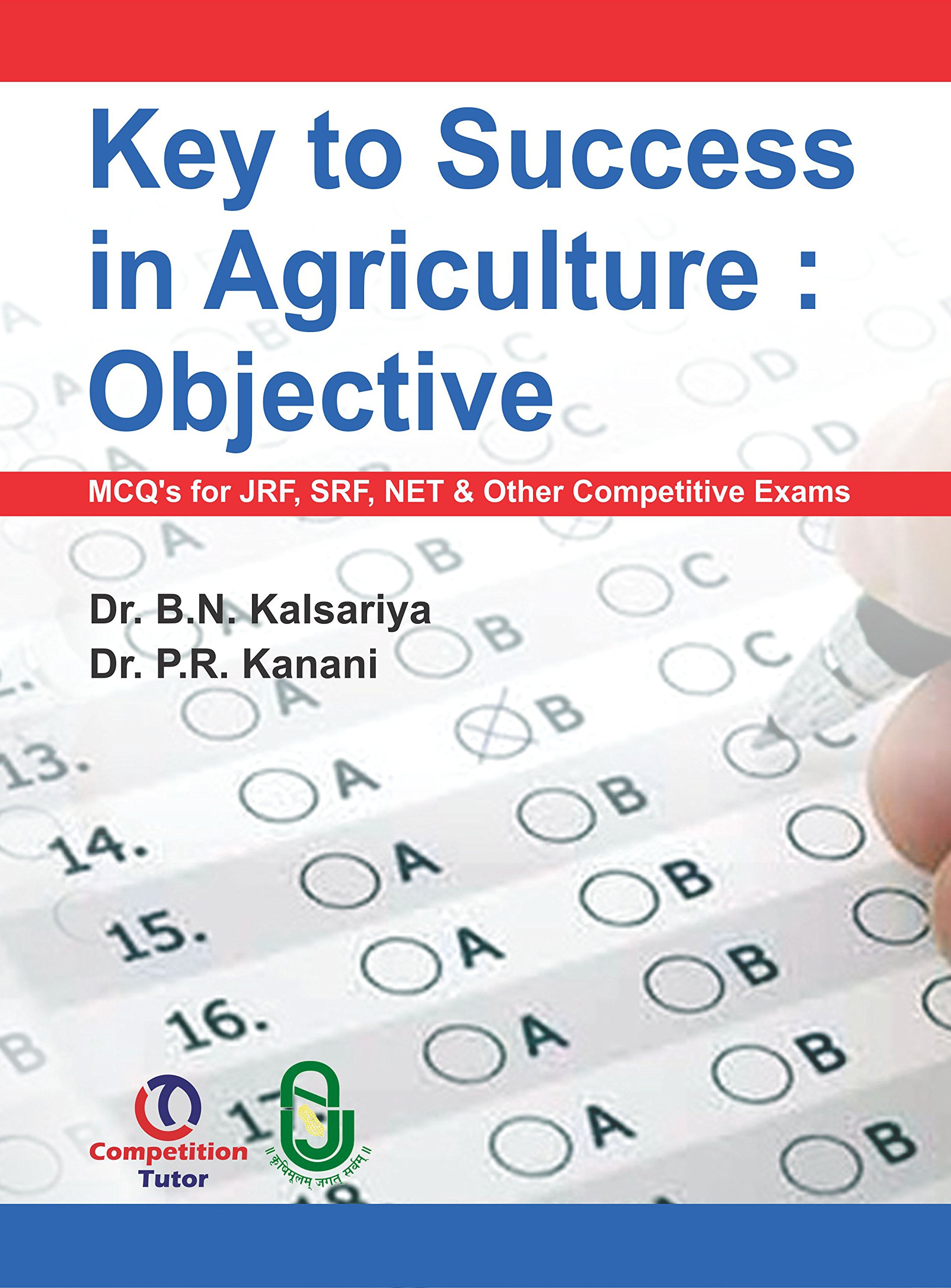 Buy Key To Success In Agriculture Objective Mcqs For Jrf Srf