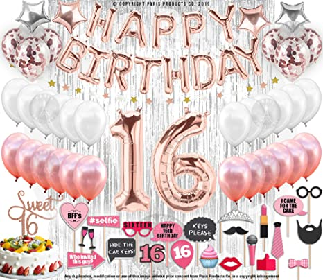New Amazon.com: 16th Birthday Decorations Party Supplies Sweet 16 @EO14