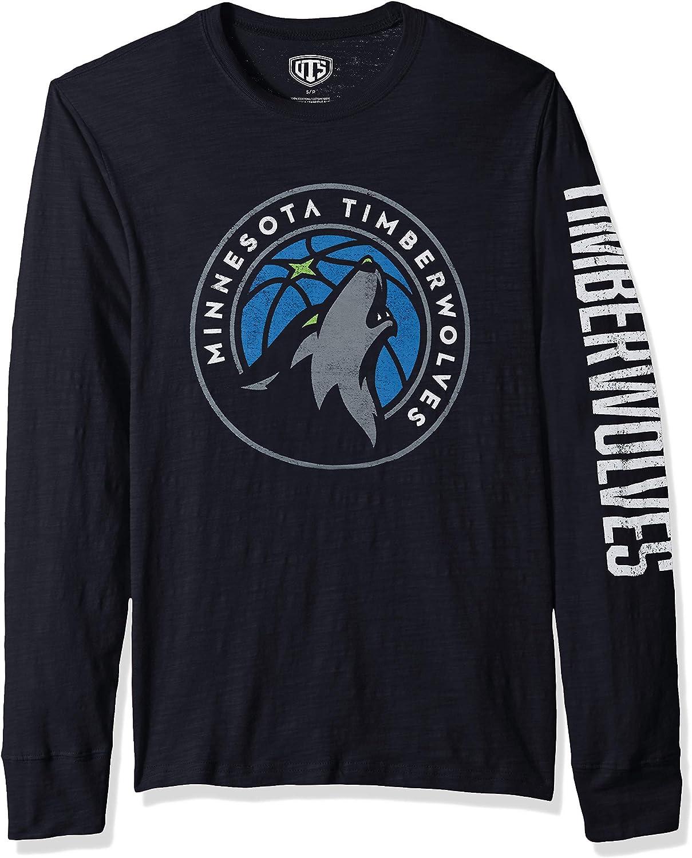 NBA Mens OTS Slub Long Sleeve Team Name Tee
