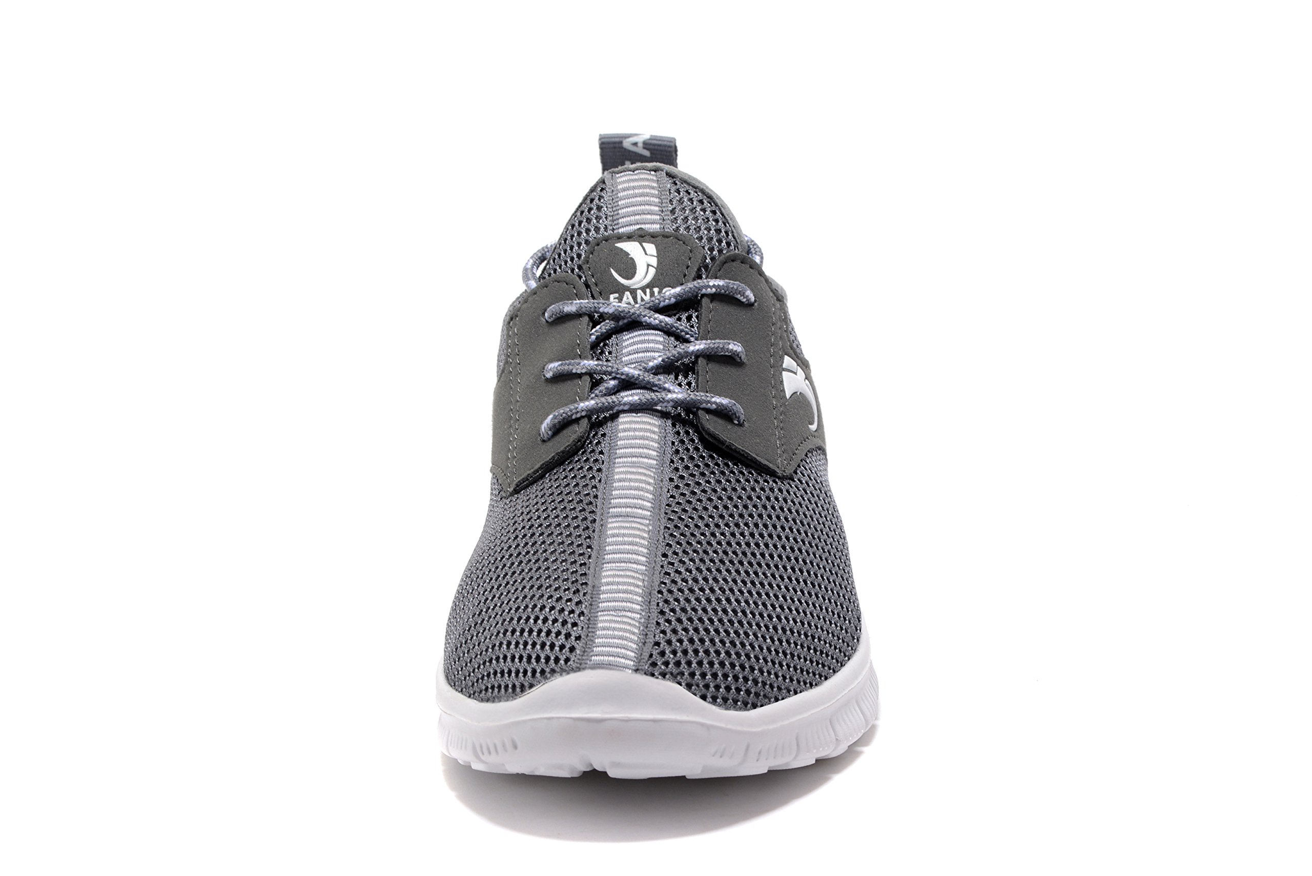 FANIC Men's Walking Shoes Workout Shoes Full Mesh Running Shoes Lightweight Comfortable Fitness Breathable Casual Sneaker (47 M EU / 12.5 D(M) US, Grey) by FANIC (Image #4)