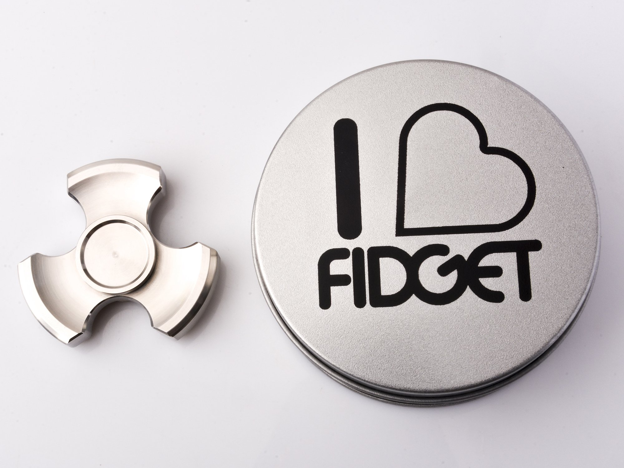 ILoveFidget Fidget Spinner, Best Stainless Steel Hand Spinner EDC Toy, R188 bearing spins up to 8 mins, relieve stress ADHD ADD Austism anxiety boredom, improve focus attention (Tri Bar) by ILoveFidget (Image #5)