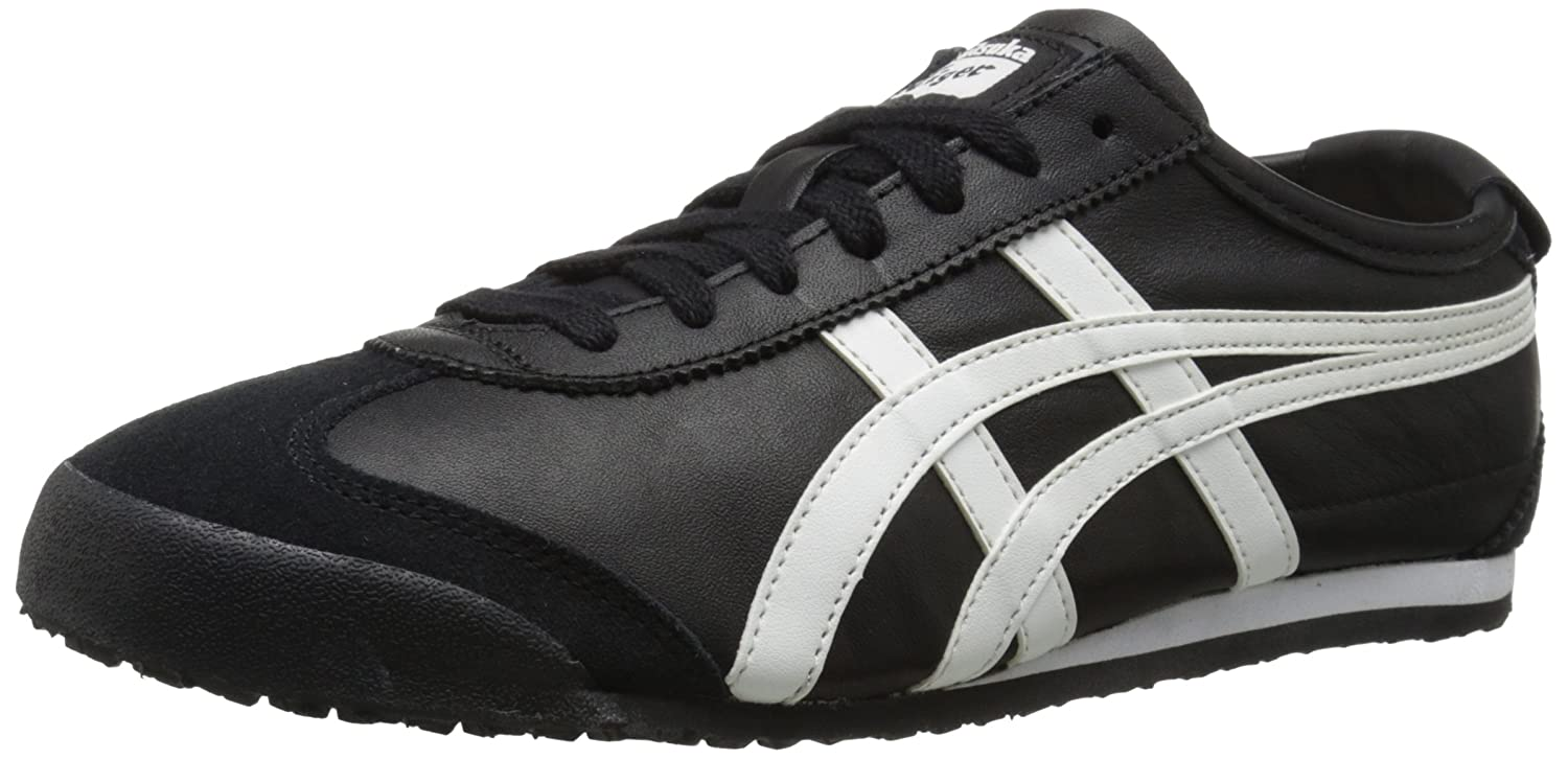 Black White Onitsuka Tiger Mexico 66 Fashion Sneaker