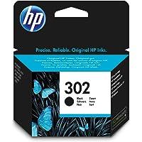 HP 302 Schwarz Original Druckerpatrone für HP Deskjet 1110, 2130, 3630; HP OfficeJet 3830, 4650; HP ENVY 4520