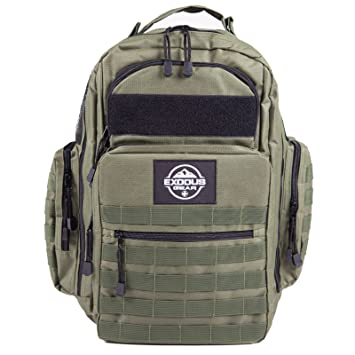 Diaper Bag - Tactical Diaper Bag Backpack By Exodus Gear with changing Pad  + Daddy Diaper
