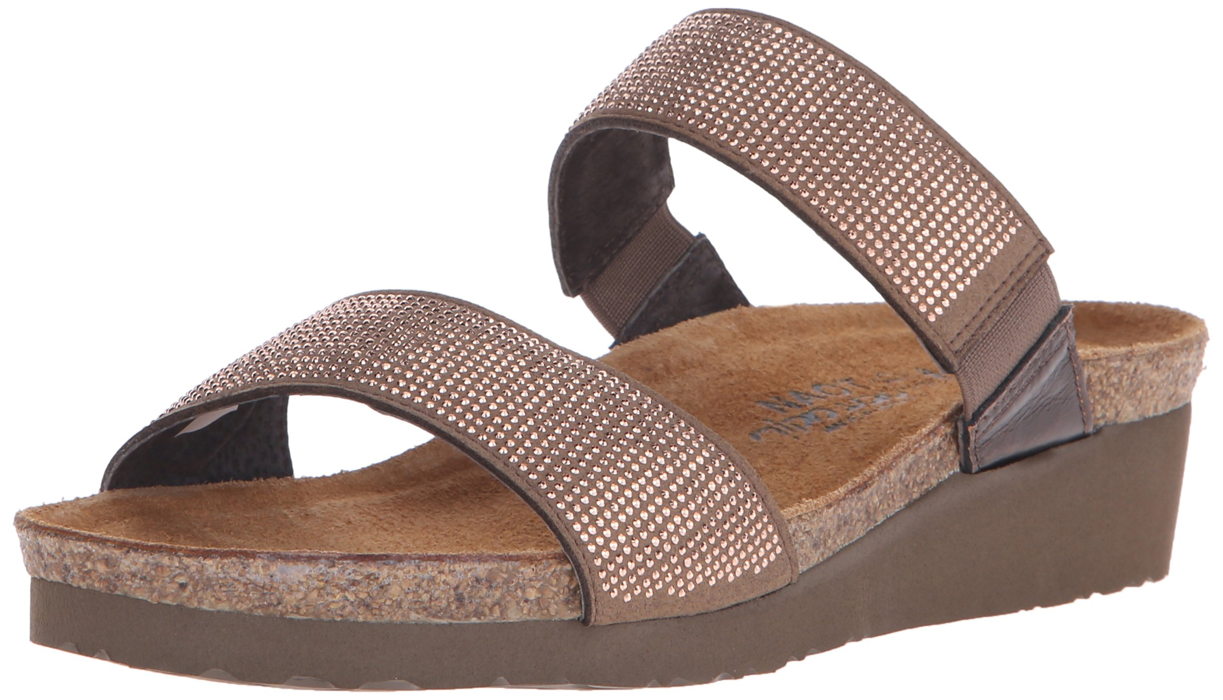 Naot Women's Bianca Wedge Slide Sandal, Copper, 40 EU/9 M US