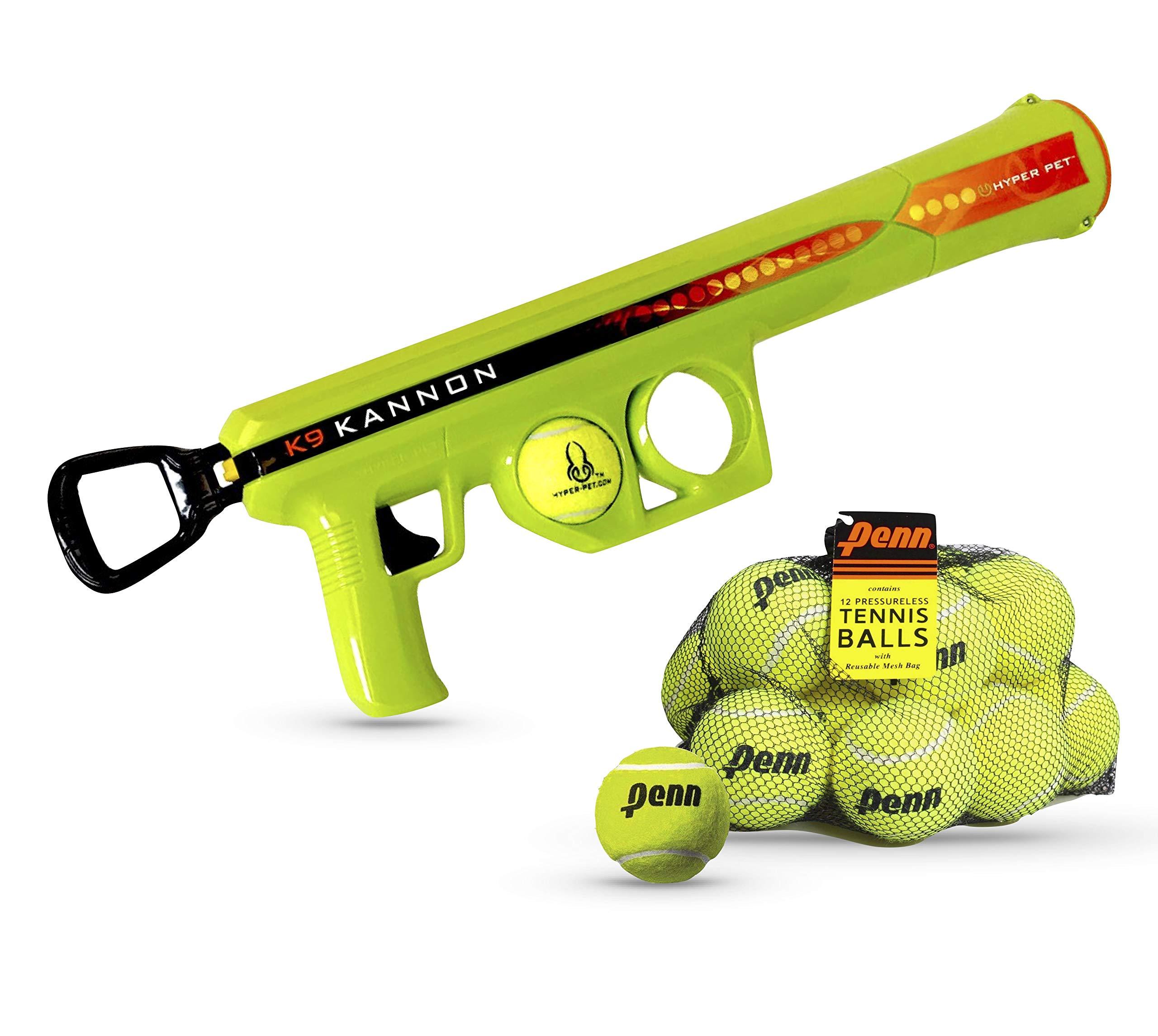 Sonship & Abundance K9 Kannon Ball Launcher and 12 Pack Tennis Balls   Fun Dog Toy Bundle for Shooting Balls far by Sonship & Abundance