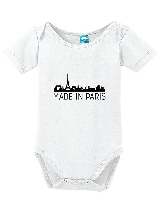 Amazon Com Made In Paris Printed Infant Bodysuit Baby Romper Clothing