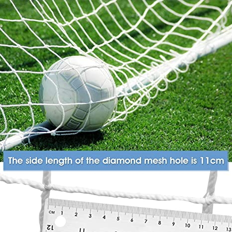 Yosoo Health Gear Replacement Soccer Net Nylon Soccer Goal Net Replacement Durable Goal Nets and Soccer Goal Straps for Outdoor Sports Football Soccer Training