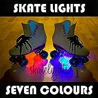 Skate lights éclairage leuchten/kit de patins à roulettes, avec piles, disponible en 7 couleurs