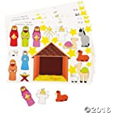 Amazon do it yourself nativity sticker scene 1 dz toys games 2 dozen 24 make a nativity scene sticker sheets religious education vbs christmas solutioingenieria