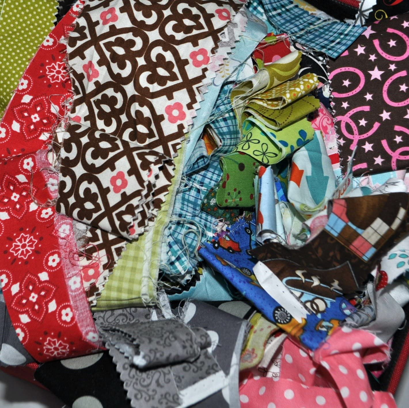 100/% Cotton No Duplicates Lot of  7 yards of Quilt Fabric