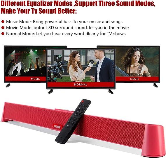 20 pollici cablati e wireless Bluetooth 5.0 altoparlante per TV montaggio a parete CARRVAS Soundbar per dispositivi TV HDMI//Ottico//Aux//USB sistema audio surround per TV e home theater.