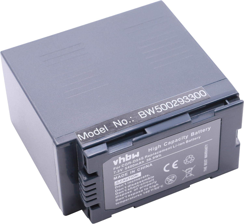 Vhbw Li Ion Akku 5400mah Für Camcorder Panasonic Elektronik