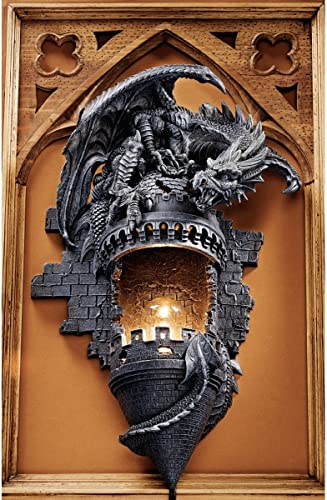 Design Toscano Dragon's Castle Lair Electric Wall Sconce Light Fixture