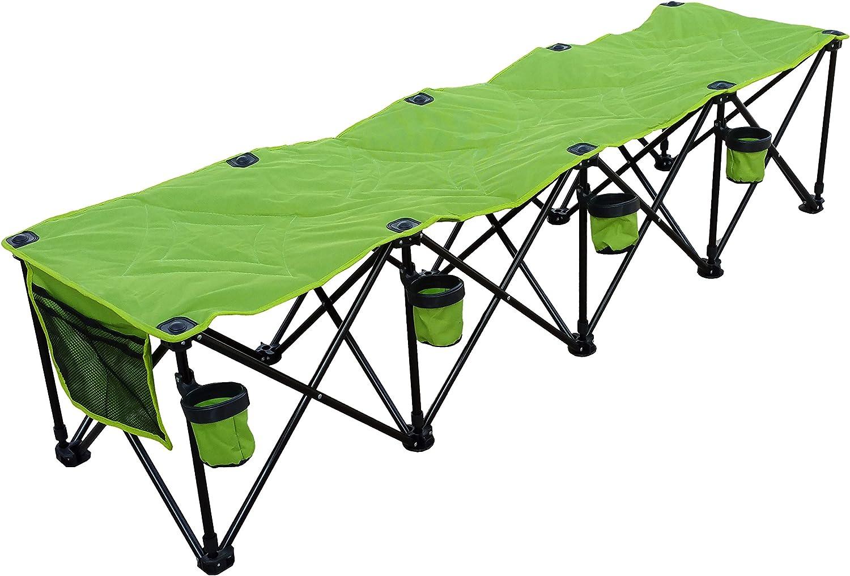 GoTEAM 4 Seat Portable Folding Team Bench – Green