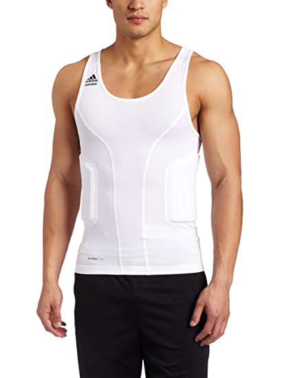 ad82bc23dd7a3 Amazon.com  adidas Men s Techfit Padded Compression Tank (White