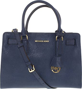 f76036d8ebc6 Michael Kors Women's Dillon Saffiano Leather Satchel Leather Top-Handle Tote  - Navy: Handbags: Amazon.com