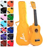 Best Soprano Ukulele with Bag, Great Fun for Adult Beginners and Children LOVE Ukuleles (the #1 Music Instrument) with FREE eBook and 'String Stretching' Guide to Get You Enjoying the Uke FAST!
