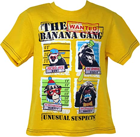 High End Ex High The Banana Gang Monkeys Camiseta Amarilla de Algodón de Media Manga para Niños: Amazon.es: Ropa y accesorios