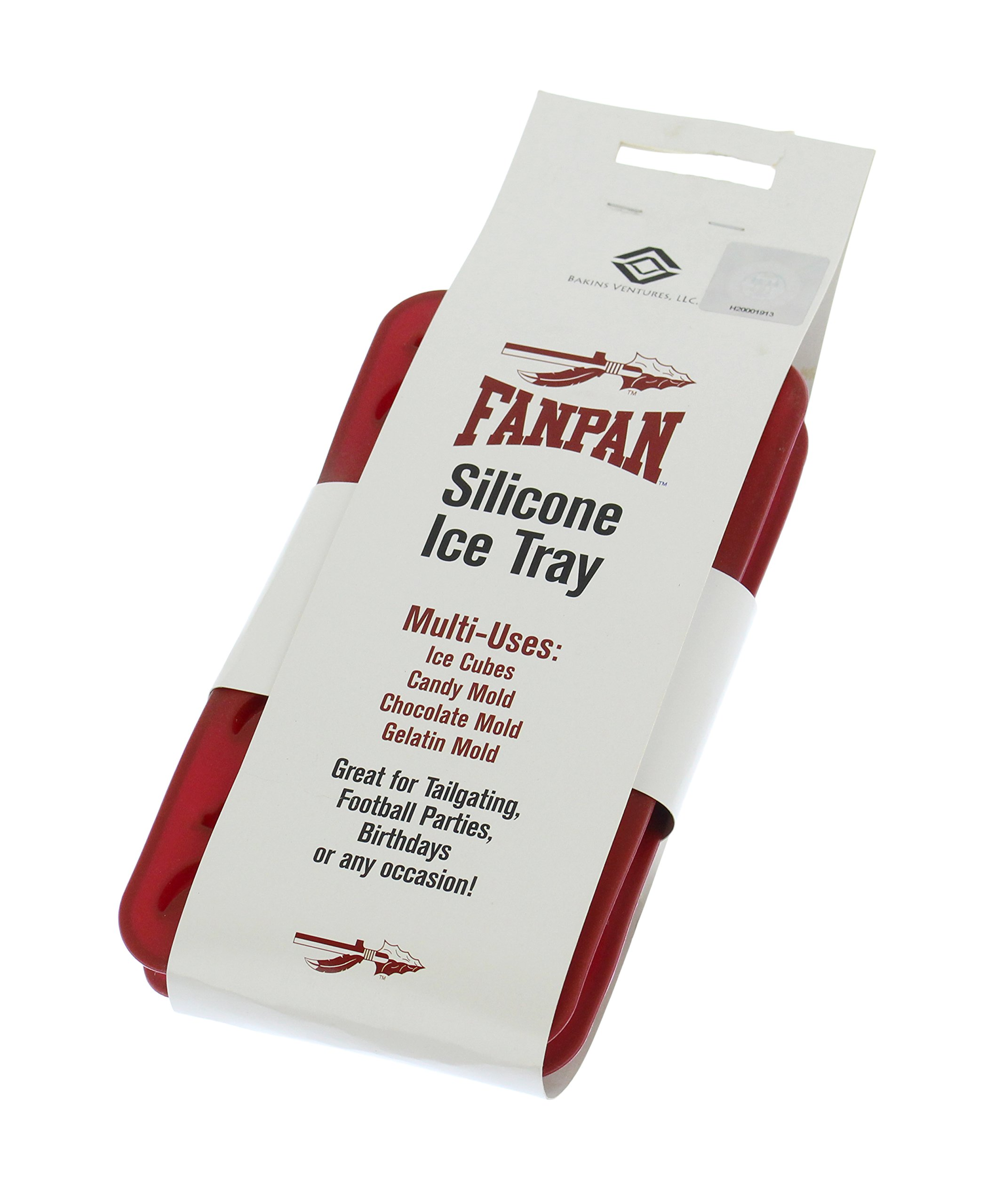 Fanpans NCAA Florida State Seminoles Ice Tray & Candy Mold, One Size, Maroon