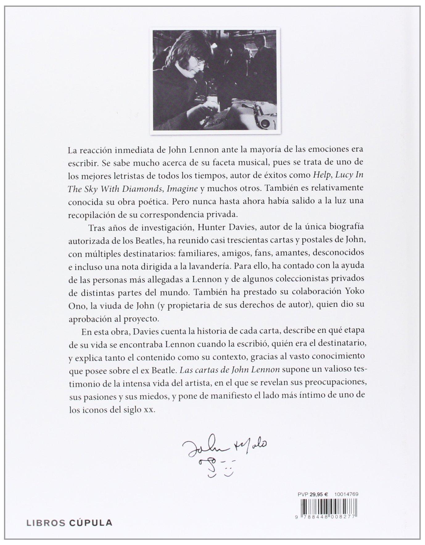 Las cartas de John Lennon (Música y cine): Amazon.es: Hunter ...